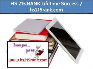 HS 215 RANK Lifetime Success / hs215rank.com