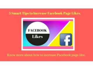 5 Smart Tips to Increase Facebook Page Likes