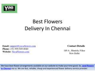 Best Flowers Bouquet Delivery In Chennai