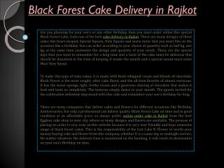 Black Forest Cake Delivery in Rajkot