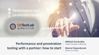Performance and penetration testing with a partner: how to start
