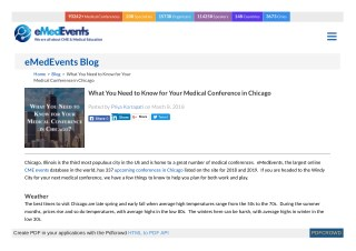 What You Need to Know for Your Medical Conference in Chicago | eMedEvents