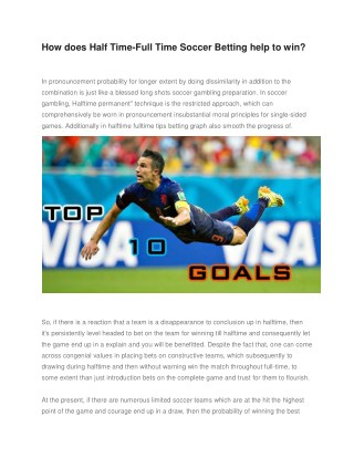 How does Half Time-Full Time Soccer Betting help to win?