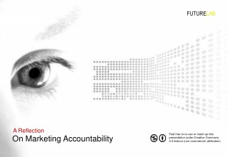 Reflecting On Marketing Accountability