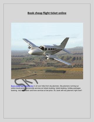 Book cheap flight ticket online