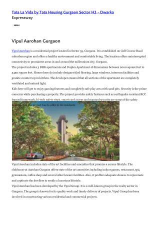 Vipul Aarohan Reviews
