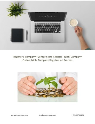 Register a company –Venture care Register| Nidhi Company Online, Nidhi Company Registration Process