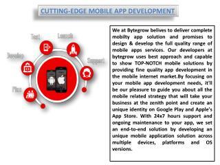 CUTTING-EDGE MOBILE APP DEVELOPMENT