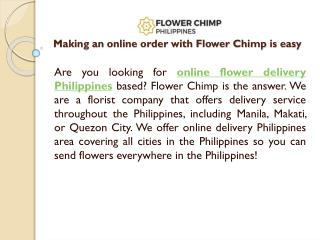 Making an online order with Flower Chimp is easy