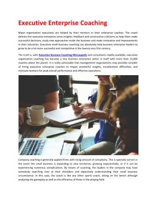 Executive Coaching - Business Coach - MN
