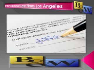 Entertainment Law Firms Los Angeles