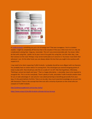 Trulife Forskolin - Weight Loss Formula, A High-Quality Slimming Supplement