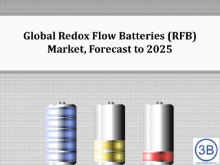 Global Redox Flow Batteries (RFB) Market, Forecast to 2025