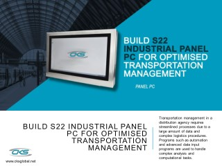 Build S22 Industrial Panel PC for Optimised Transportation Management