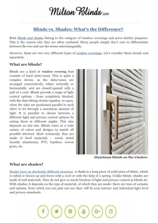 Blinds vs. Shades: What's the Difference?