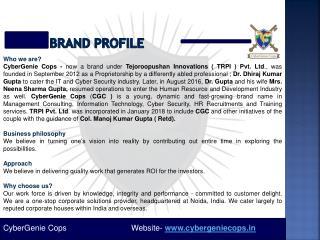 CyberGenie Cops Company Profile