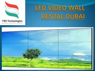 Led video wall rental Dubai