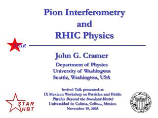Pion Interferometry and RHIC Physics