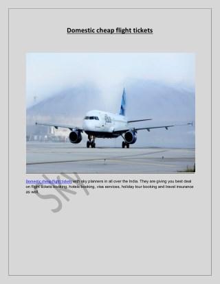 domestic cheap flight tickets