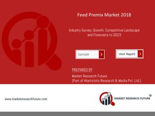 Feed Premix Livestock -Poultry, Swine, Ruminants, Aquatic Reginal Share | Trends | Forecast and Size -2023