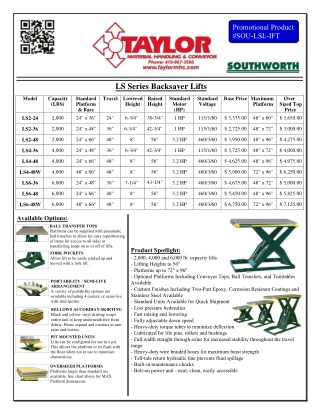 Your Quick Guide To Southworth's Material Handling Products and Their Prices