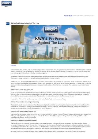 RWA's Pet Peeve Is Against The Law