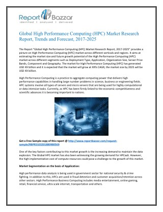 High Performance Computing (HPC) Market Competitive insights, Advanced technologies & growth opportunities in global Ind