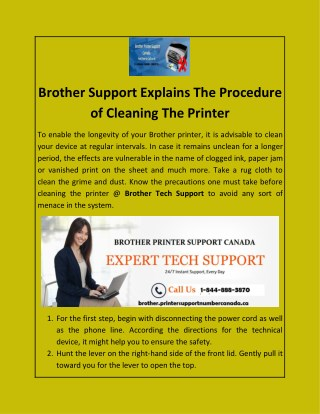 Brother Support Explains The Procedure of Cleaning The Printer