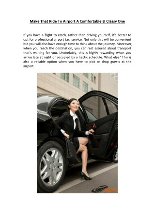 Airport Taxi Limousine Service In New Jersey