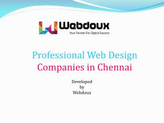 Best Web Design Companies in Chennai at India