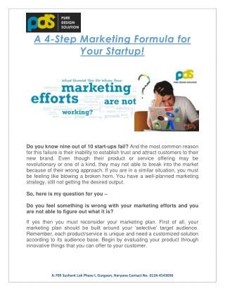 4 Step Marketing Formula for Startup Success