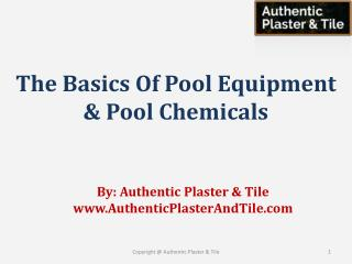 The Basics of Pool Equipment and Pool Chemicals