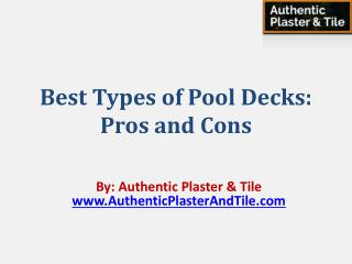 Best Types of Pool Decks: Pros and Cons