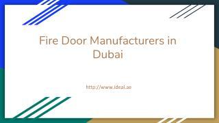 Professional Fire Door Manufacturers In Dubai