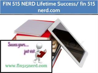 FIN 515 NERD Lifetime Success/ fin 515 nerd.com