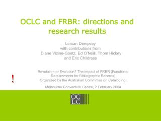 OCLC and FRBR: directions and research results
