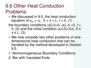 9.6 Other Heat Conduction Problems
