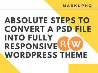 Convert a PSD File into Fully Responsive WordPress Theme