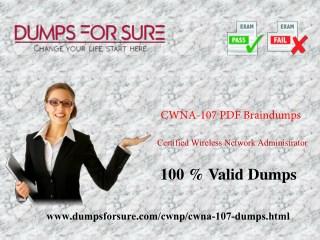 The latest CWNA-107 exam study guide and free braindumps