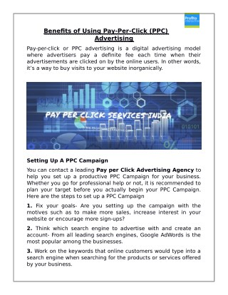 Benefits of Using Pay-Per-Click (PPC) Advertising