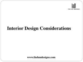 Interior Designing Office Considerations