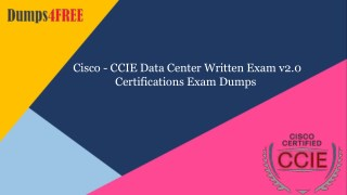400-151 PDF Dumps Cisco Dumps Questions | Dumps4free