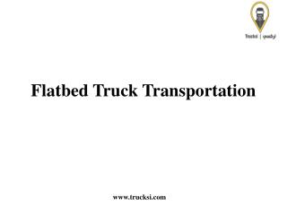 Flatbed Truck Transportation Services In KSA