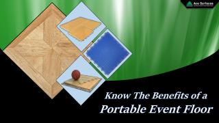 Know The Benefits of a Portable Event Floor