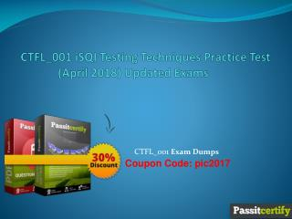 CTFL_001 iSQI Testing Techniques Practice Test (April 2018) Updated Exams