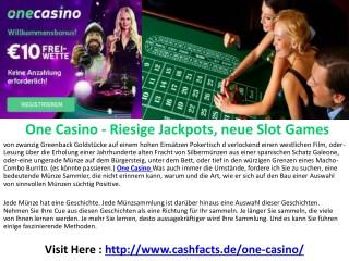One Casino : Für die besten Online Casinos