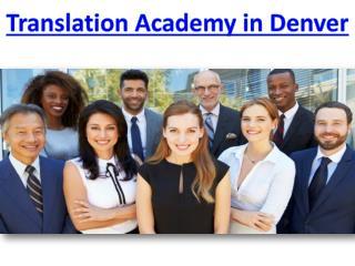 Translation Academy in Denver