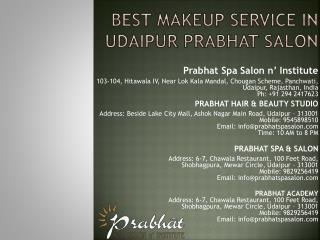 Best Makeup Service in Udaipur Prabhat Salon