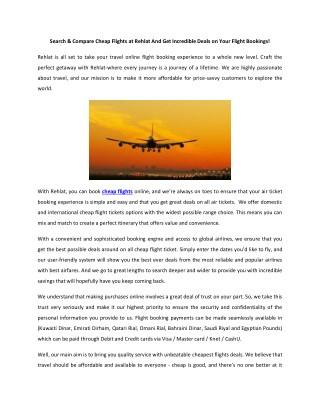 Find cheap flight tickets