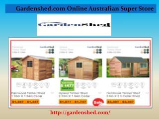 Sheds | Garden Sheds, Absco Sheds Online Sale at Discount Price.
